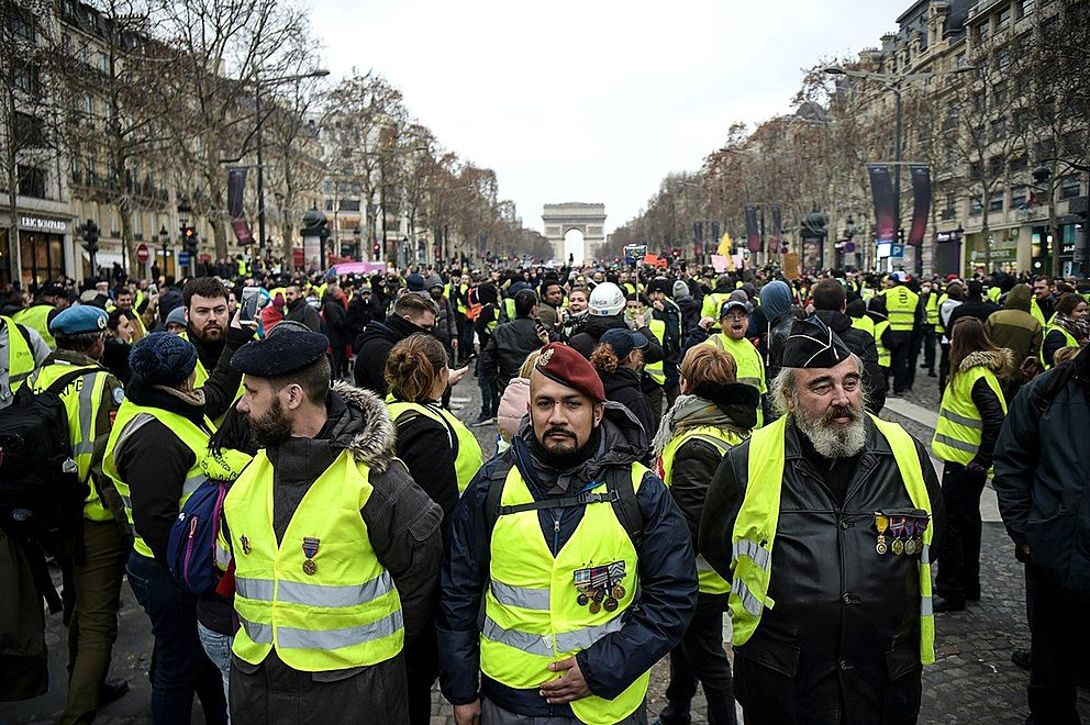 V řadách francouzských žlutých vest slouží bojovníci zDonbasu