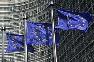 Vlajky Evropské unie - Ilustrační foto.
