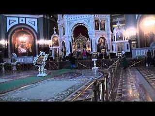 Pussy Riot v chrámu Krista Spasitele