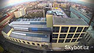 Forum Karlín (BXR, Economia; hexacopter flight; Skybot.cz)