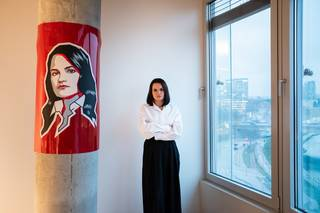 Běloruská prezidentská kandidátka Svjatlana Cichanouska, listopad 2020