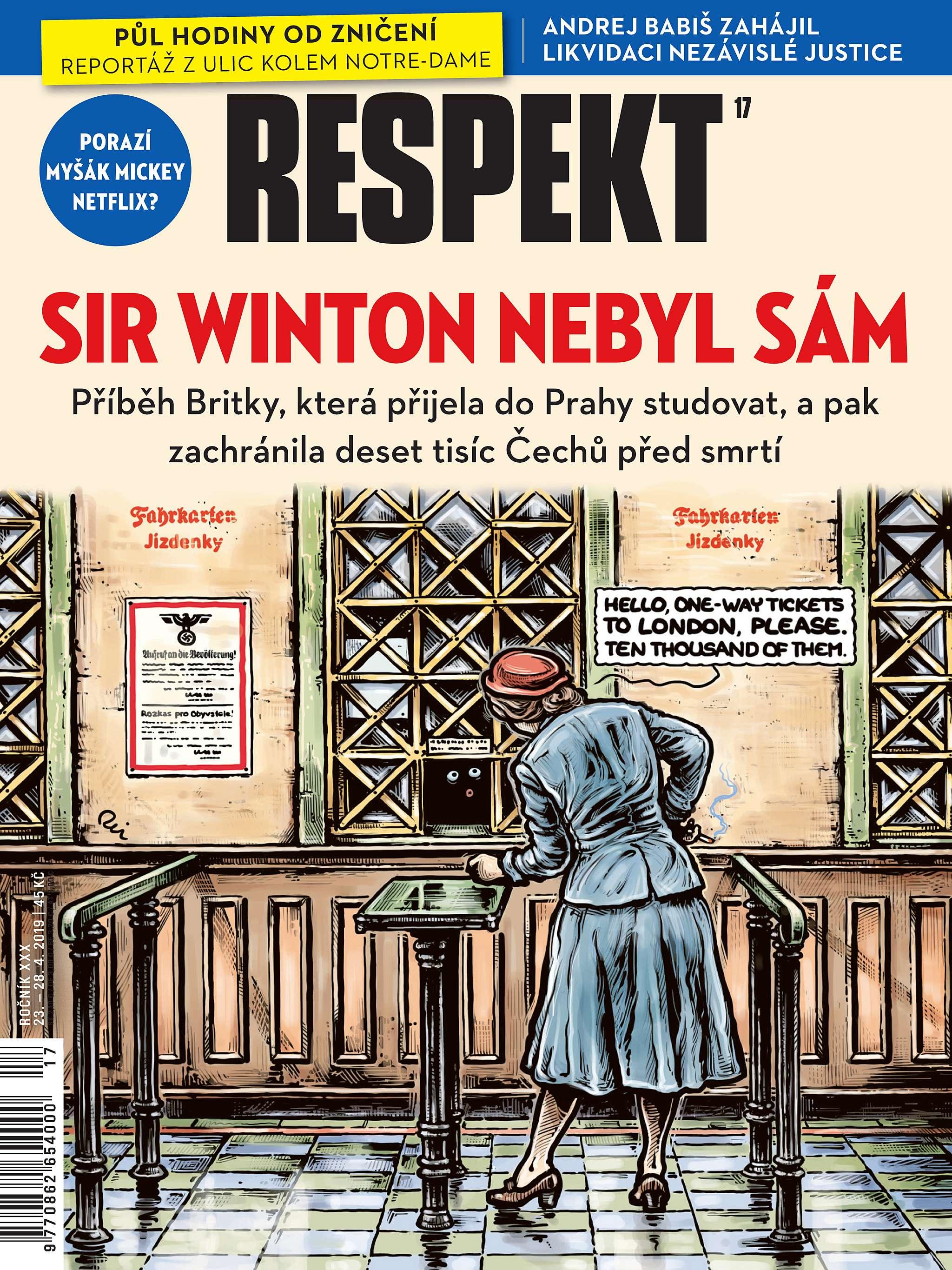 Sir Winton nebyl sám- otématu týdeníku Respekt
