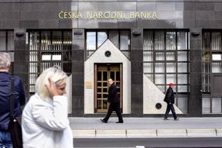 Ostrava, ČNB, bankovnictví, finance,Česká národní banka, logo, chodci
